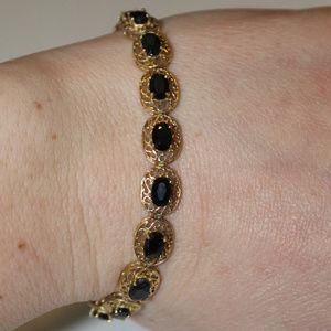 Vintage Sapphire 14K Gold Bracelet